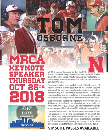 MRCA's 69th Annual Conference & Expo - Keynote Speaker Tom Osborne