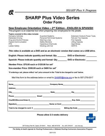 Video Order Form