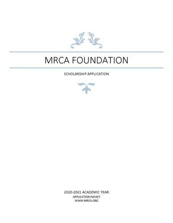 Foundation Scholarship Packet