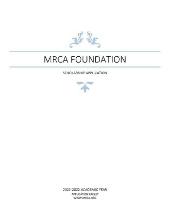 MRCA Foundation Scholarship Cover