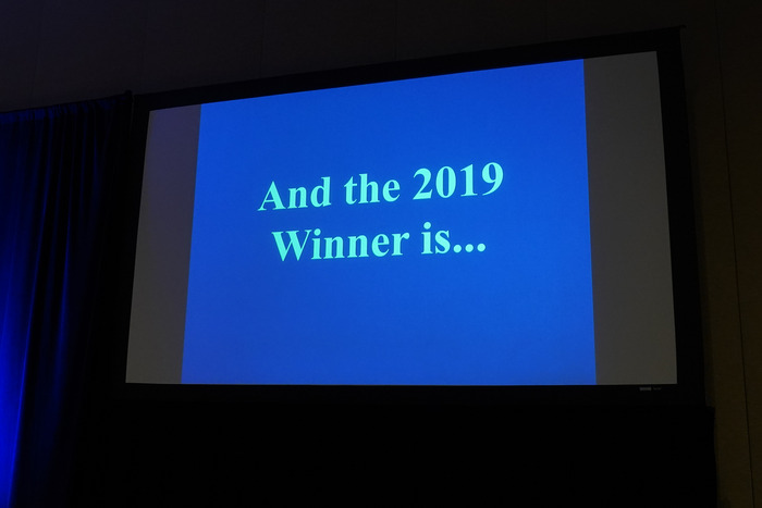 The 2019 James Q. McCawley Award goes too...